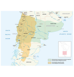map settlement area indigenous people mapuche vector image