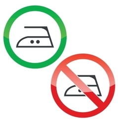 Middle ironing permission signs set vector