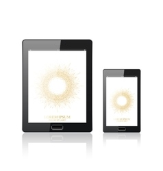 Modern digital tablet PC with mobile smartphone vector