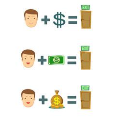 Money is salvation vector