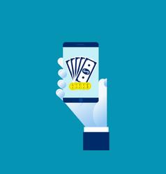 money transfer transaction concept online payment vector image