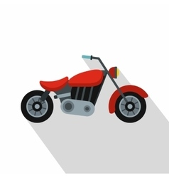 Motorcycle icon flat style vector