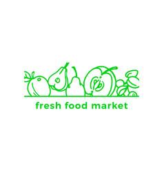Nature organic card fresh symbol bio natural sign vector