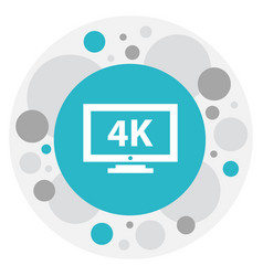 Of movie symbol on 4k icon vector