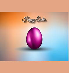 Original easter design template with glossy 3d vector