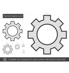 Payment options line icon vector image