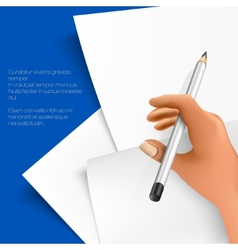 Pencil and notepad vector