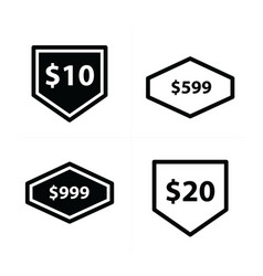 price tags label set design vector image