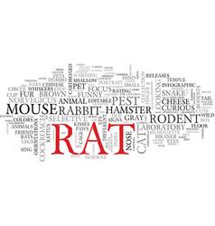 rat word cloud concept vector image