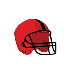 Red rugby helmet vector image