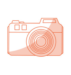 Red silhouette shading image analog camera with vector