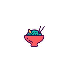 rice icon design gastronomy icon design vector image