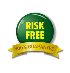 risk free label in green and yellow colors vector image