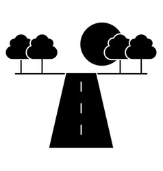 road horizont icon sign o vector image
