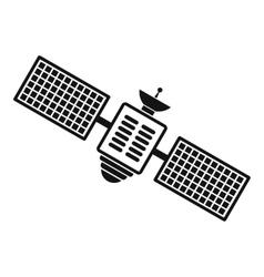 Satellite black simple icon vector
