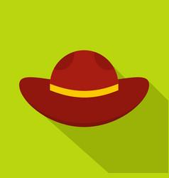 Sea hat icon flat style vector
