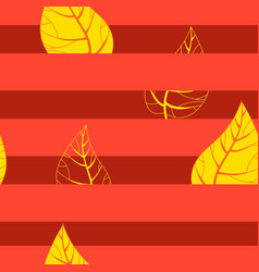 seamless autumn background vector image