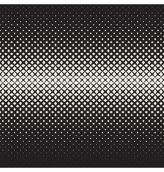 Seamless Black and White Cross Halftone vector