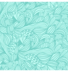 seamless pattern with abstract blue floral vector image