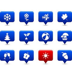 Seasons buttons vector