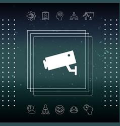 Security camera icon vector