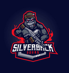 Silverback mascot vector