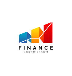 simple finance logo consultant template vector image