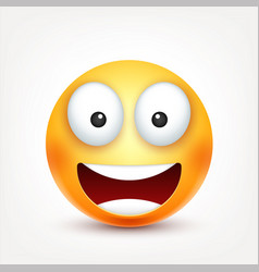 Smileysmiling emoticon yellow face with emotions vector
