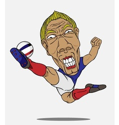 soccer player France vector image