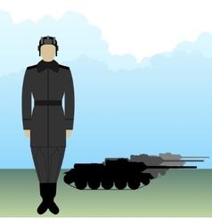 Tankman-1 vector image