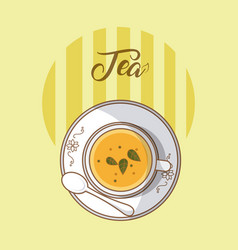 Tea hot cup vector
