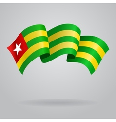 Togolese waving Flag vector