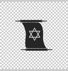 Torah scroll icon on transparent background vector
