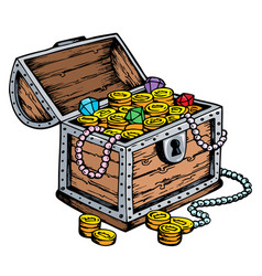 Treasure chest drawing vector