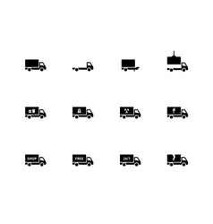 Truck icons on white background vector image vector image