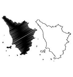 Tuscany map vector