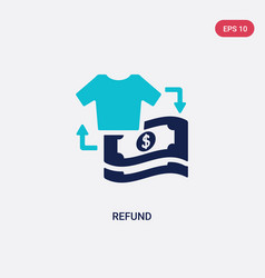 two color refund icon from fashion and commerce vector image
