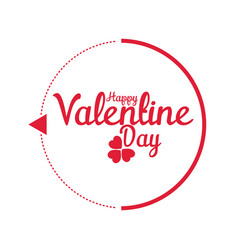Valentine day modern circle image vector