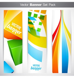 vertical headers vector image