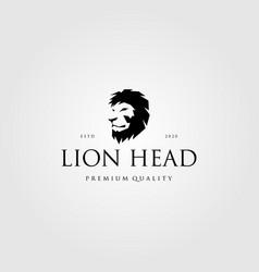 vintage lion head logo design vector image