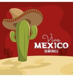 Viva mexico poster celebration vector
