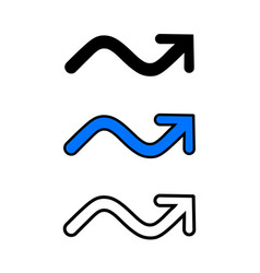 wavy arrow icon vector image