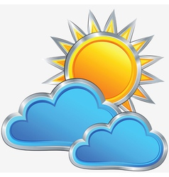 weather icon with a sunny weather vector image