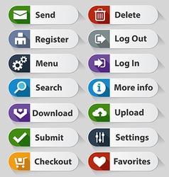 Web design white buttons set vector