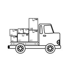 delivery cargo truck vector image vector image