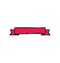 red ribbon banner decoration empty vector image