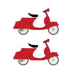 Red vintage motor bike vector image vector image