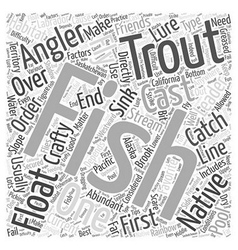 SF trout fishing tips Word Cloud Concept vector image vector image