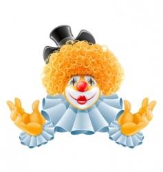 cartoon clown vector image vector image