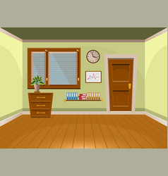 cartoon flat interior office room in lime style vector image vector image